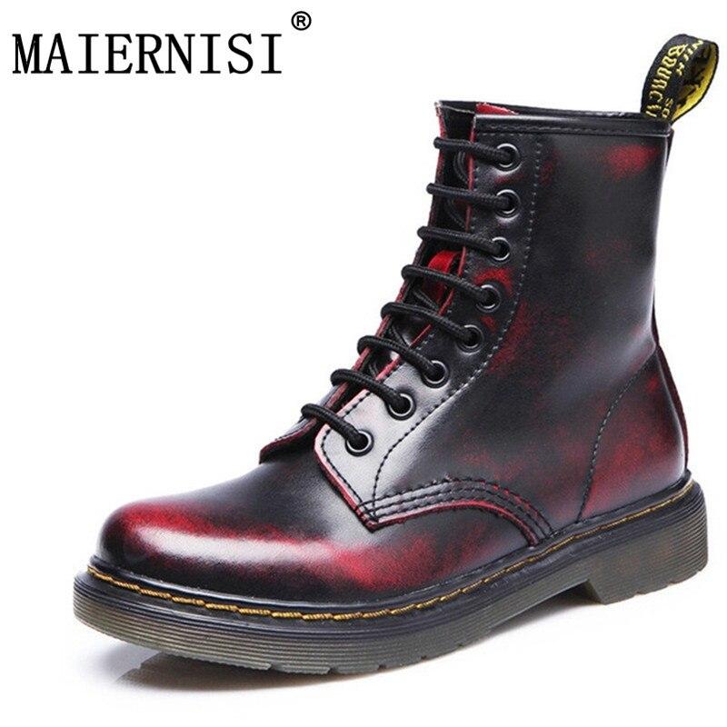 8c5a559fc Martins Dr mulheres Botas Martins Doc 2019 Britânico Do Vintage Verdadeiro  Clássico Sapatos Da Motocicleta das