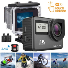 F60R 4K WIFI Sports Action Camera Ultra HD 1080P 30m Underwater Diving Camera Waterproof pro DV Camcorder phone control Camera