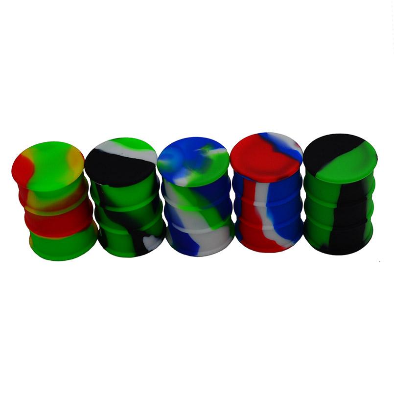 Oil barrel silicone wax container