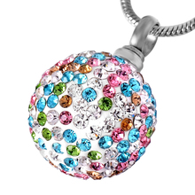 IJD8865 Promotion Luxury Crystal Ball Ash Jewelry,Cremation Jewelry for Pet/Human Ashes Pendant