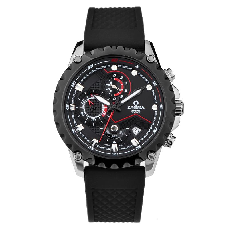 Prix pour Marque de luxe montres hommes acier inoxydable business casual sport multifonction hommes poignet quartz montre étanche 100 m CASIMA #8203