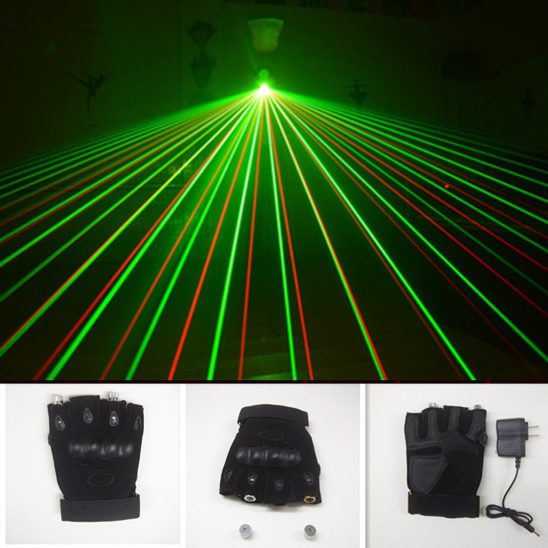 2 red lasers gloves