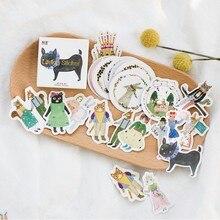 45 pièces/boîte forêt Concert animaux Mini papier autocollant décoration Album de bricolage journal Scrapbooking étiquette autocollant Kawaii papeterie