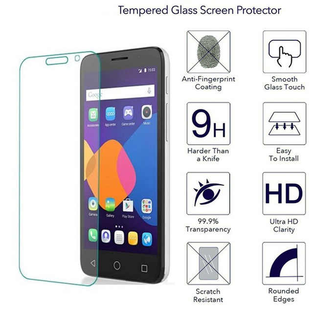 Alcatel One Touch Pixi 3 4.0 Temperli Cam Ekran Koruyucu 2.5 9 h güvenlik koruyucu film üzerinde onetouch Pixi3 4013 4013E 4013D