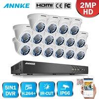 ANNKE 16 CH 5in1 HD CVI TVI AHD 3MP Sécurité DVR enregistreur Avec 16 pcs 1080 P 2MP Dans/Extérieure Fixe CCTV Caméras Système de Surveillance