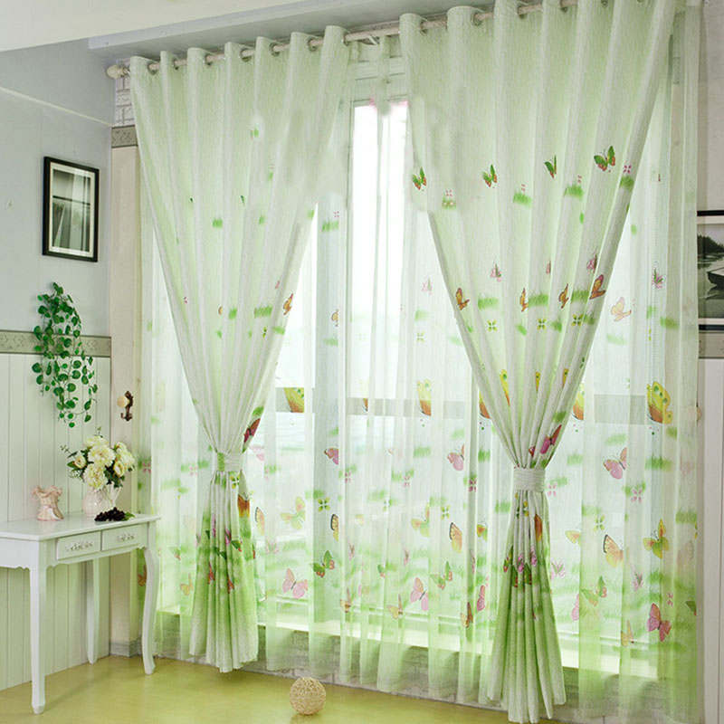 2016 3d Curtains Butterfly Window Curtains For Living Room Luxurious Window Curtain Children