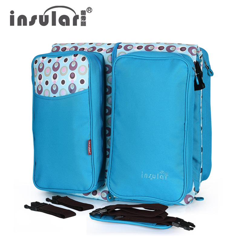 все цены на Insular Multifunctional Baby Diaper Bag Baby Bed Foldable Newborn Bed Travel Baby Mommy Nappy Changing Bag M72