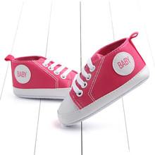 Baby Boy buty noworodki dzieci płótno bawełna szopka buty koronki się casual buty Prewalker First Walkers tanie tanio Dziecko Gumowe Wiązane krzyżowe MUPLY Dziewczynka Pasuje do rozmiaru Weź swój normalny rozmiar Sznurowane Zima Stałe