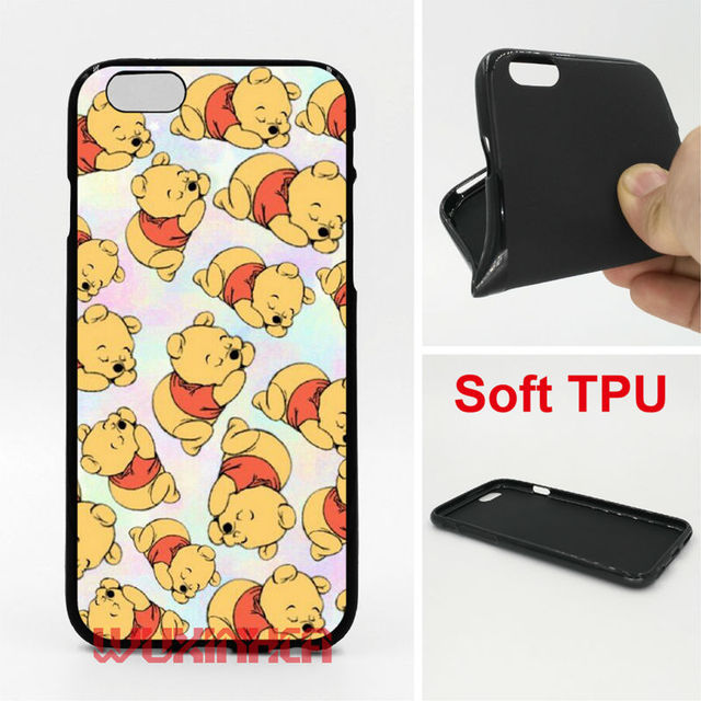 pretty nice d1bf3 0a0e5 US $3.38 11% OFF|Winnie Pooh Phone Case Soft TPU For iPhone 6 7 Plus SE 5S  4S Touch 6 For Samsung Galaxy S8 Plus S7 S6 Edge S5 S4 2016 J3 J5-in ...