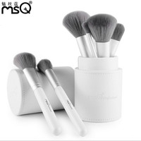 MSQ 12pcs Lovely Travel Makeup Brush Set Synthetic Mini Makeup Brushes With Bag