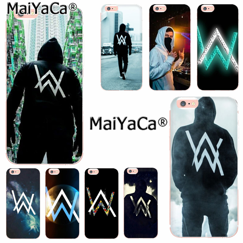 MaiYaCa Alan Walker DJ Faded Colorful Phone Accessories Case for iPhone 8 7 6 6S Plus X 10 5 5S SE 5C 4 4S Coque Shell