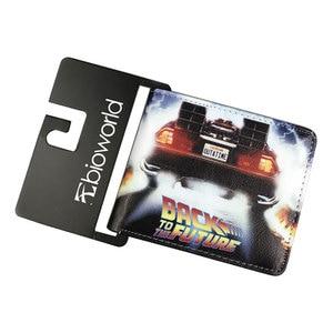 Anime Back to the Future Wallets carteira masculina Card Holder Purse Dollar Money Bags Boy Girl Supernatural Short Wallet(China)