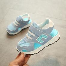 2018 Dejlige sommer åndbar baby første vandrere Hook & Loop M design søde baby sneakers elegante fashionable piger drenge sko