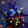 LLEVÓ La luz solar 10 M 60 LED Solar Luces de la Secuencia de Las Luces de Navidad/Decoración Del Partido de la VENTA CALIENTE de Iluminación AL AIRE LIBRE
