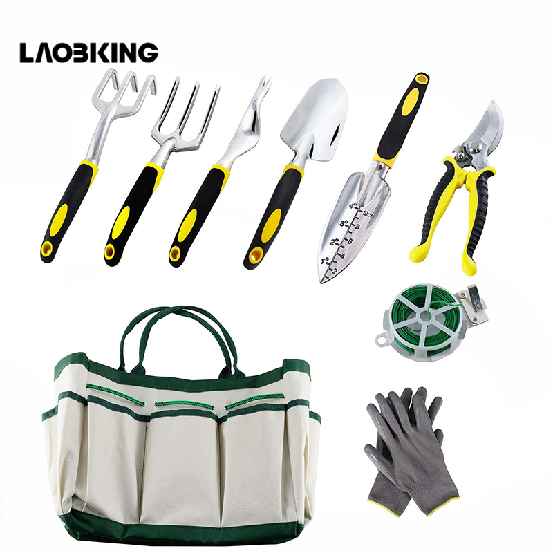 Garden Tools Set Multifunctional Oxford Tool Bag Garden Shovels Pruning Shears Bandages Outdoor Work Gardening Tools Hand Tool
