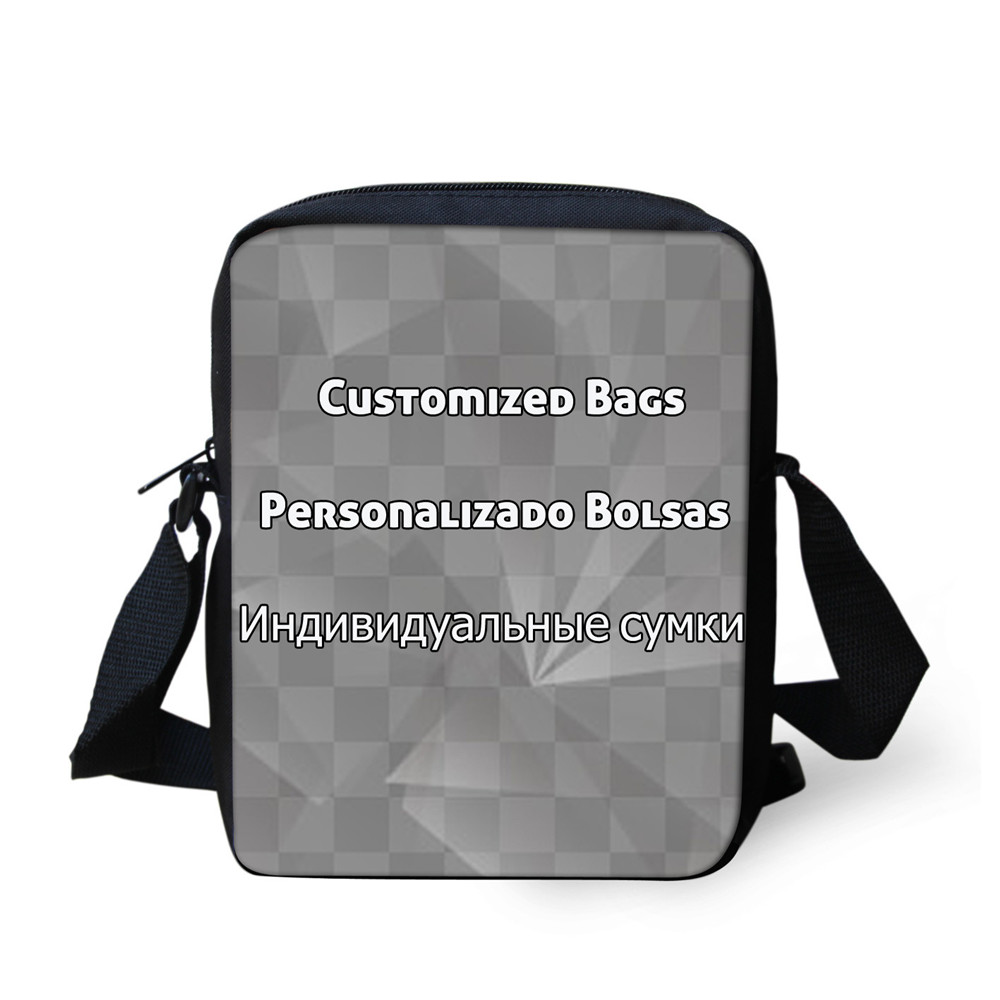 FORUDESIGNS Welcome Custom Messenger Bag for Women High Quality Girls Boys Crossbody Bags Small Portable ladies Shoulder Bags