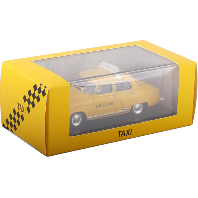 <font><b>1:43</b></font> Static Model Classic Simulation <font><b>Vintage</b></font> Gaz M-21 Volga 1956 Moscow Auto Taxi Cab Alloy <font><b>Diecast</b></font> Toy Vehicle Car Model Gifts image