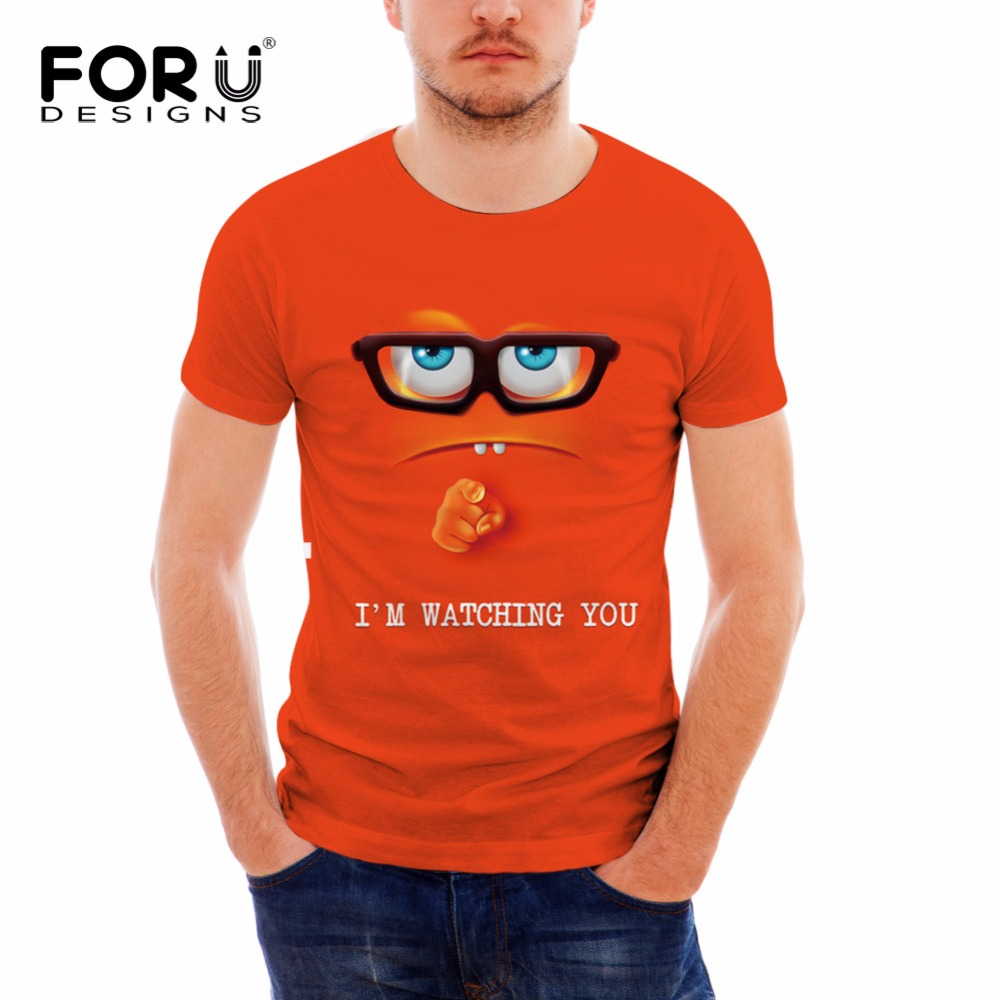 FORUDESIGNS Cute Emoji Face Printed T Shirt 2017 Summer Short Sleeve Men  Clothing Tees Comfortable 3D T shirt for Male Plus Size-in T-Shirts from  Men's ...