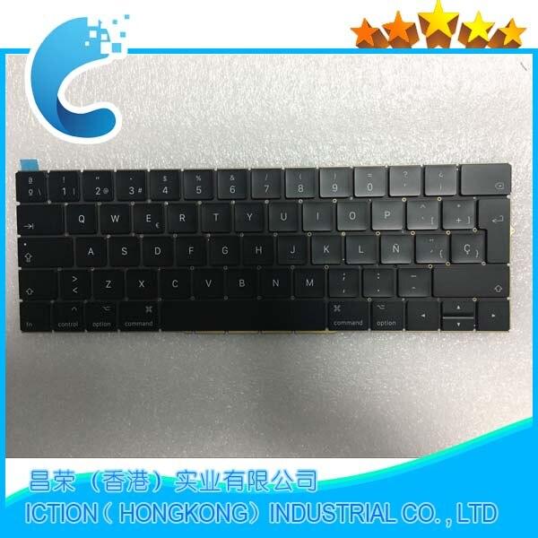 Original New A1707 Keyboard Spain for Macbook Pro Retina 15'' A1707 Spain Keyboard Late 2016 Mid 2017 Year original new a1707 keyboard fr french azerty for apple macbook 15 a1707 french azerty keyboard late 2016 mid 2017 year