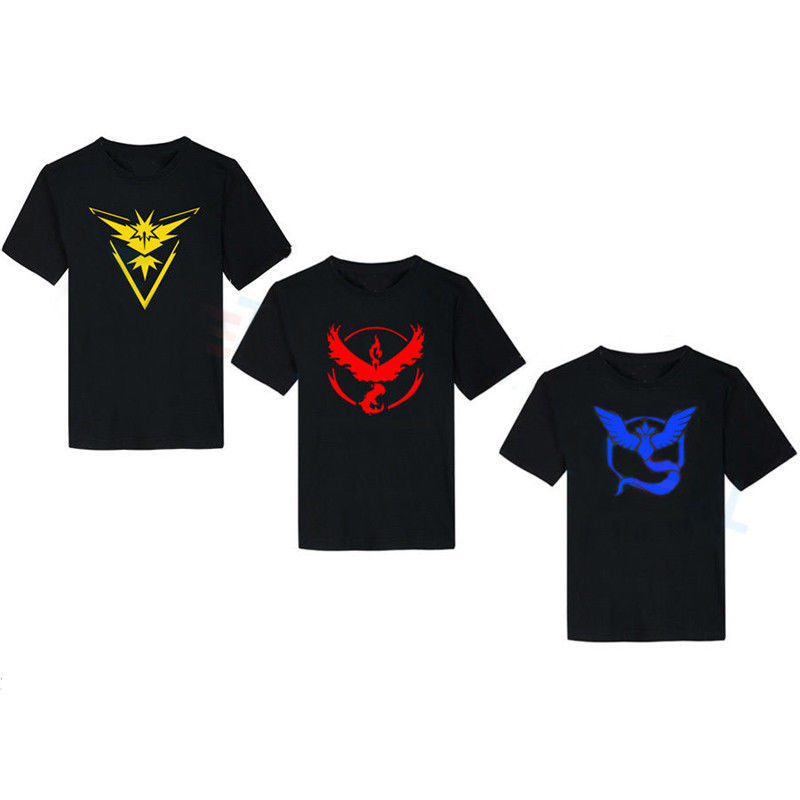 Pokemon Go Mens T Shirt Slim Fit Crew Neck T-shirt Men Short Sleeve Shirt Casual tshirt Tee Tops Team Mystic Mens Short Shirt 2