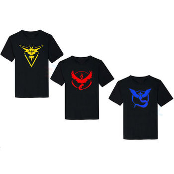 Pokemon Go Mens T Shirt Slim Fit Crew Neck T-shirt Men Short Sleeve Shirt Casual tshirt Tee Tops Team Mystic Mens Short Shirt 2