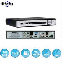 Hiseeu AHD HD 4ch 1080P 3 In 1 DVR Video Recorder For Analog Camera AHD Camera