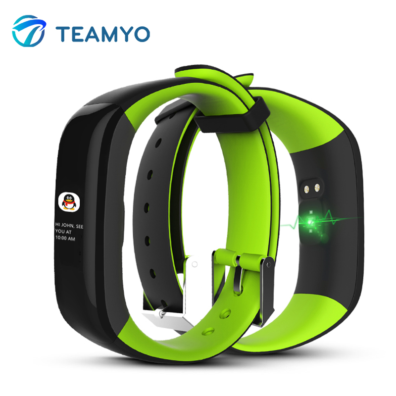 Teamyo Smart Band Heart Rate Monitor Fitness Bracelet Watches Blood Pressure Color Display Fitness Tracker Wristband With IP67