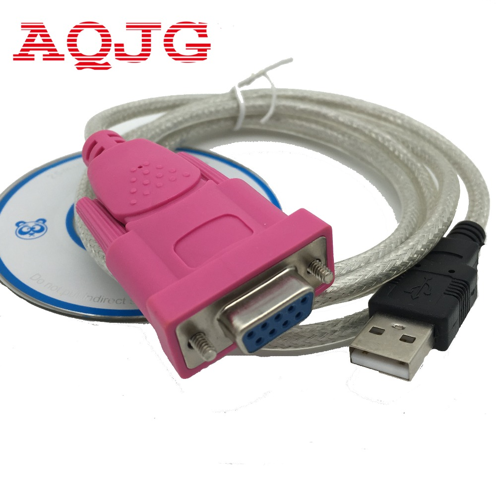 Usb Rs232 usb-fraukabel db9 serielle schnittstelle löcher 9 löcher COM Computer kabel 1,5 mt New mit dem CD fahrer WhoesaleAQJG