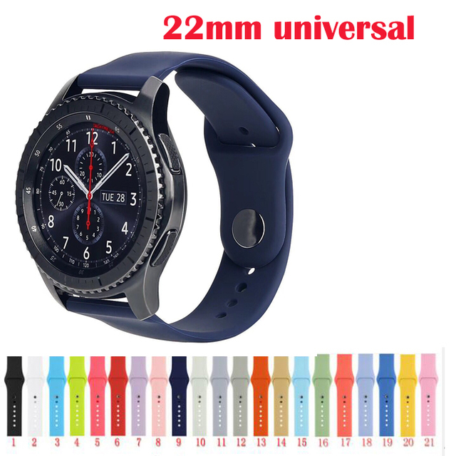 22mm belt For Samsung Galaxy watch Gear 2 S3 bracelet live Neo zenwatch 2 1 spor