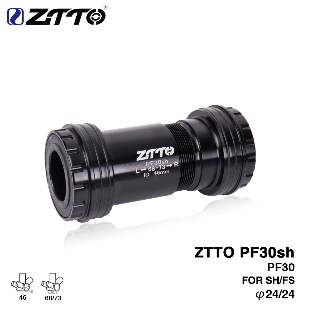 ZTTO PF30sh PF30 24 Adapter bicycle Press Fit lock Bottom Brackets Axle for MTB Road bike parts 24mm Crankset chainset