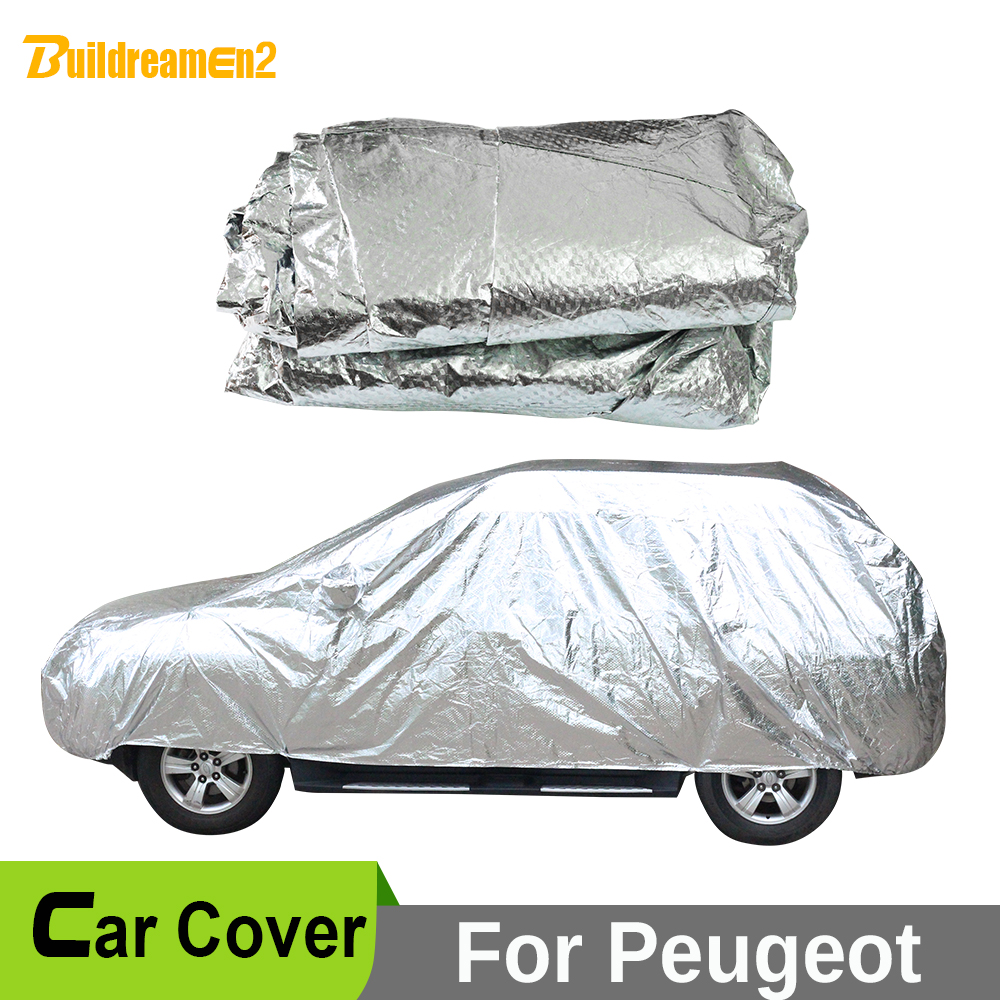 Buildreamen2 Waterproof Car Cover Snow Rain Hail Scratch Sun Shade Resistant Car Cover For Peugeot 2008 3008 807 4008 4007 5008 buildreamen2 new car cover auto sun shield anti uv rain snow protector cover waterproof for peugeot 1007 2008 207 307 4008 405