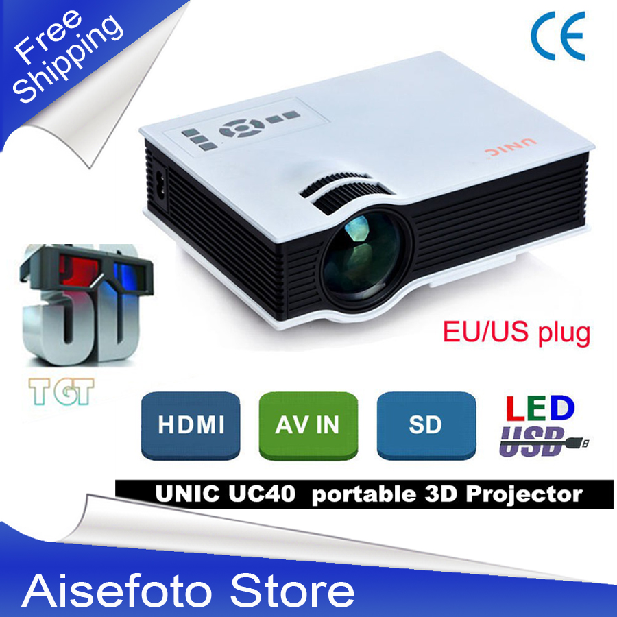 Newest Original UNIC High Quality Mini Portable LED 3D Projector HDMI Home Theater Beamer Multimedia Proyector Full HD Video 2015 newest original mini pico portable full hd 3d projector hdmi home theater beamer multimedia proyector full hd 1080p video