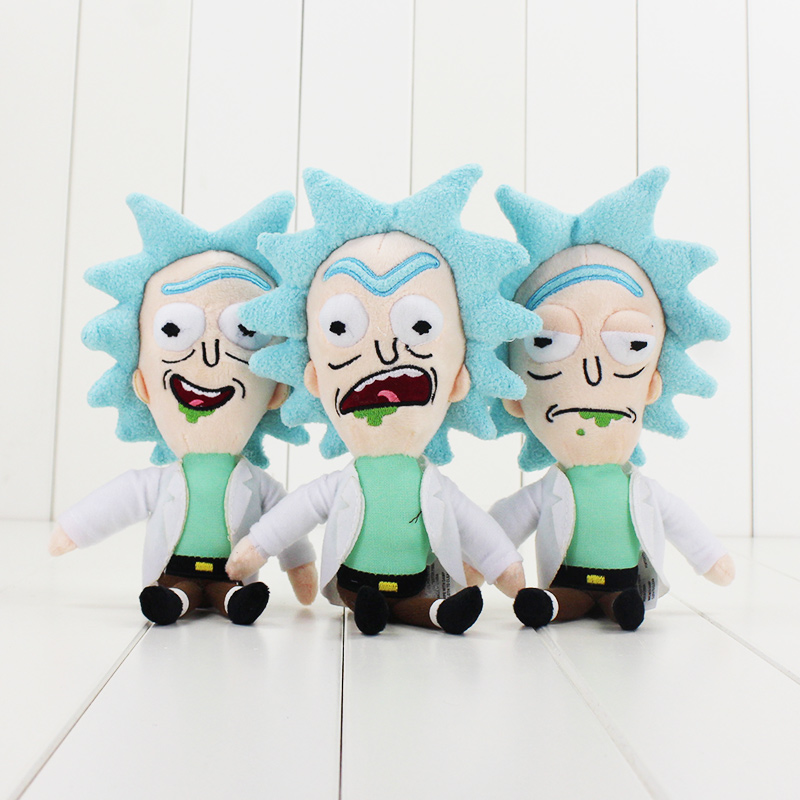 23cm Rick And Morty Cartoon Cute Rick Plush Doll Kawaii Q Soft Stuffed Dolls As A Gift For Christmas And Birthday To Children