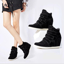 Fashion font b Women b font Wedges Shoes Ankle Boots Female Leopard Flock Motorcycle Boots Casual