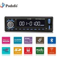 Podofo 4 »Универсальный в тире одного 1 DIN стерео плеер 12 В Аудиомагнитолы Автомобильные Цифровой ЖК-дисплей Экран стерео bluetooth USB/TF/MP3/WMA