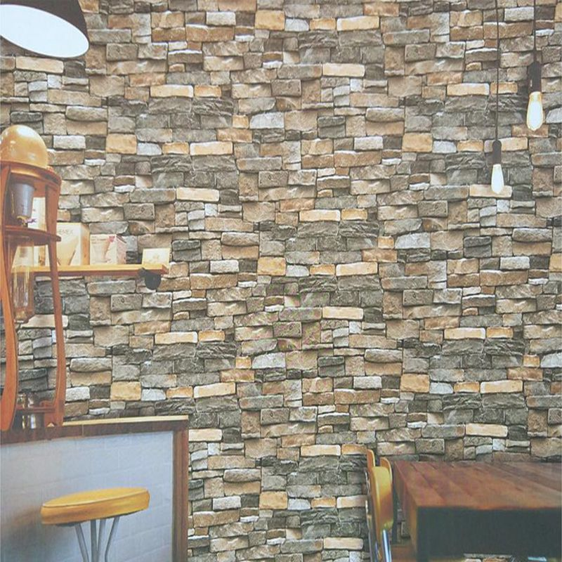 PVC 3d Vintage Brick Wallpaper Roll Waterproof Wall Vinyl Bar Wallcovering  Restaurant Living Room Wallpapers Kitchen Bathroom In Wallpapers From Home  ...