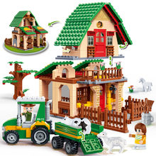 BanBao 8579 Countryside Happy Farm House Bricks Educational Building Blocks Model Toys For Kids Children Compatible With Legoe(China)