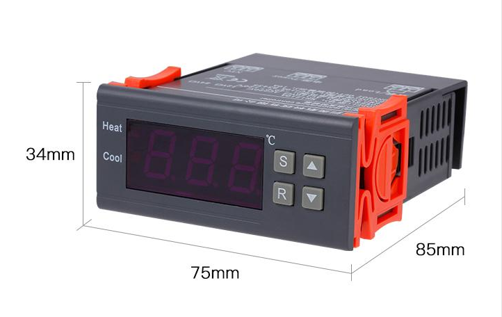Digital Thermostat 220V Temperature Controller Thermocouple Sensor termostato digitale thermometre estacion metereologicaMH1210A digital stc 1000 220v all purpose temperature controller thermostat with sensor