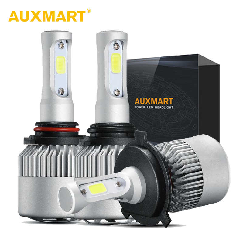 Auxmart H7 H11 9005 9006 H1 H3 9012 Car LED Headlight Bulbs H4 H13 9004 9007 Hi-Lo Beam 72W 8000LM Car Led Headlamp Bulbs 12v