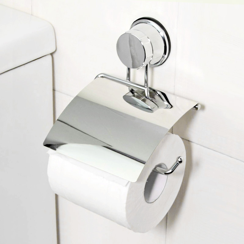 Stainless Steel Toilet Paper Storage Holders Shelf Free Nail Free Drilling  Bathroom Organization Wall Strong Sucker Racks Home