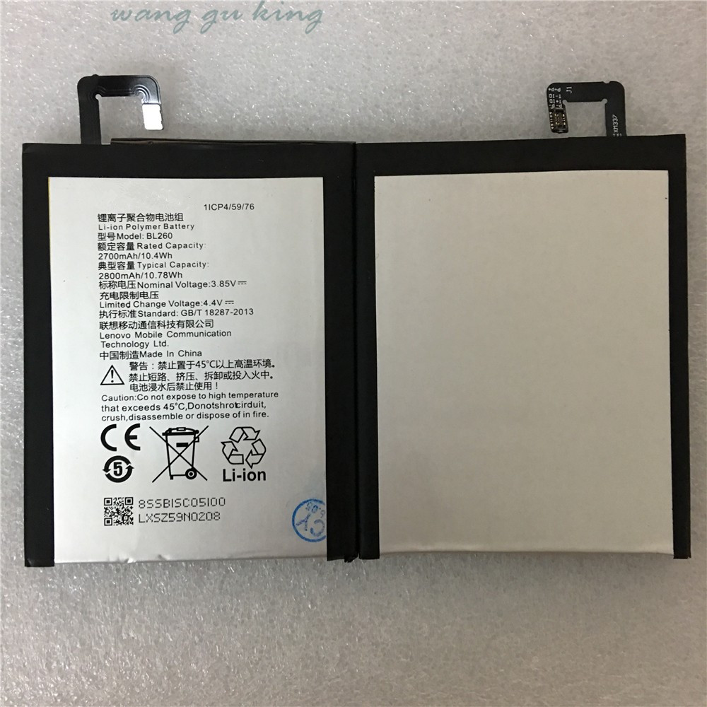 100 Original High Quality Replacement 2700mAh Phone Battery BL260 for lenovo vibe s1 lite Batteries For Lenovo Mobile Phone in Mobile Phone Batteries from Cellphones Telecommunications