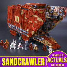 Lepin 05038 3346pcs Star Wars Sandcrawler Building Blocks Sets Juguete para Construir Bricks Toys compatible with legeod 75059