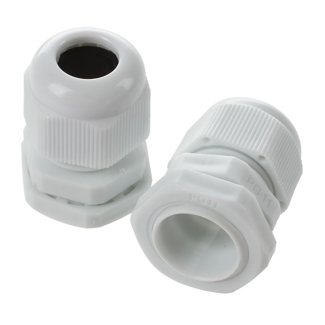 10 Pcs White Plastic PG11 Waterproof Cable Glands Connectors-in ...