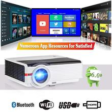 CAIWEI Android LED Projector Home Cinema Mobile WIFI Proyector Multimedia 5000LM Bluetooth Full HD Video USB TF HDMI AV