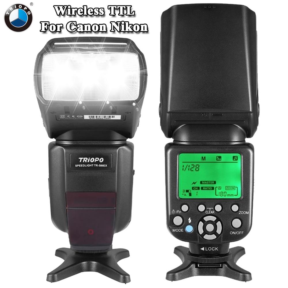 TRIOPO TR-TR-586EX Modalità Flash Wireless TTL Speedlite Speedlight Per Nikon D750 D800 D600 D700 D610 D7100 D7000 Per La Macchina Fotografica Canon