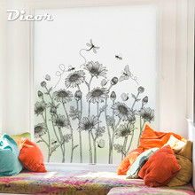 DICOR sunflower stained frosted window film privacy pattern flowers bouquet art glass films for home decor BLT2211