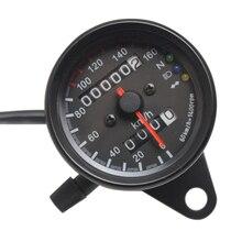 Универсальный измеритель скорости для мотоцикла, одометр 12 В, двойной измеритель скорости для мотоцикла, светодиодный измеритель скорости для мотоцикла