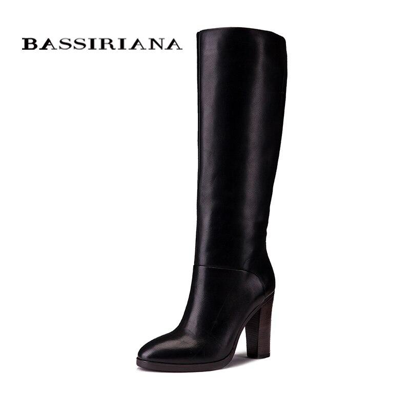 BASSIRIANA أزياء الشتاء أحذية كاجوال الأميرة الحلو النساء التمهيد عالية أحذية بكعب الأزياء منتصف العجل الأحذية-في بوت للركبة من أحذية على  مجموعة 2