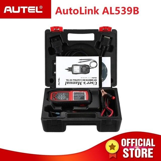 Autel AutoLink AL539B OBDII scanner automotive Electrical Test Tool OBD 2 car diagnostic code reader battery tester PK al539