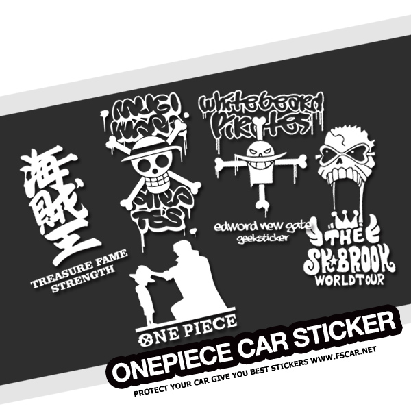 One Piece Pirate White Beard Brook Straw Hat Luffy Car
